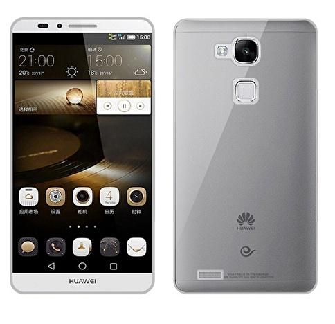 Microsonic Transparent Soft Huawei Ascend Mate 7 Kılıf Siyah Renkli